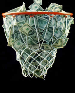 Image result for basketball and money photo